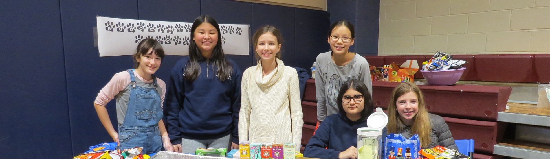 WCMS students fund raising table to help pet rescue