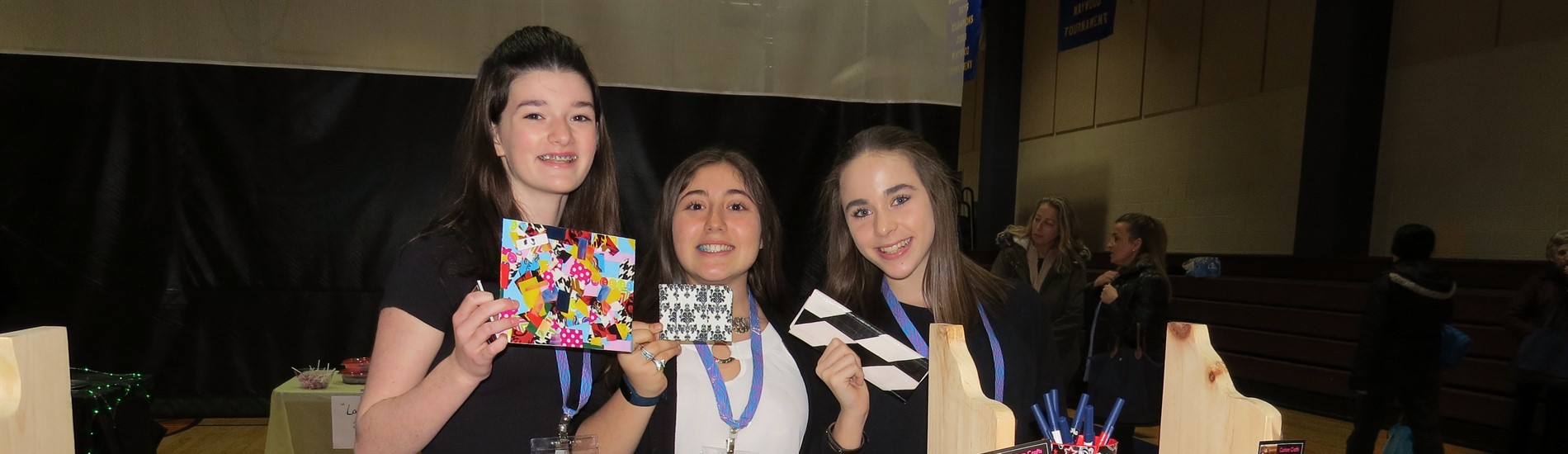 "WCMS ""Treps"" students selling their ""duck tape"" wallets at the Market Place"